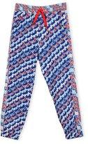 Kenzo Baya Abstract Track Pants, Royal, Size 8-12