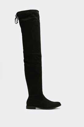 Nasty Gal Womens Give It All You've Got Thigh-High Boot - Black - 5, Black