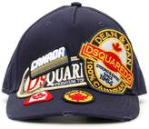 Dsquared2 Baseball Cap With Logo Multi Patch