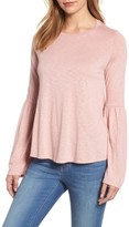 Velvet by Graham & Spencer Women's Bell Sleeve Slub Knit Top