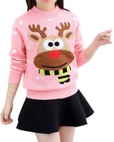 MNBS Girls Kids Adult Winter Long Sleeve Deer Christmas Pullovers Knitted