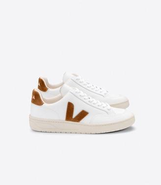 Veja V-12 Sneakers Leather Extra White Camel - 39 (UK 6)