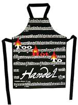 Too Hot To Handel Kitchen Apron - Music Score Chef by Music Gifts