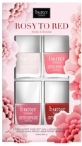 Butter London Rosy To Red Patent Shine 10X(TM) Nail Lacquer Set - Rosy To Red