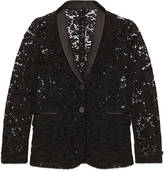 Gucci Lace single-breasted jacket