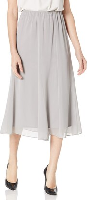 Alex Evenings Women's Chiffon Tea Length Skirt Various Styles (Petite Regular)