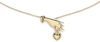 Agnes de Verneuil Necklace With Hand & Heart - Gold