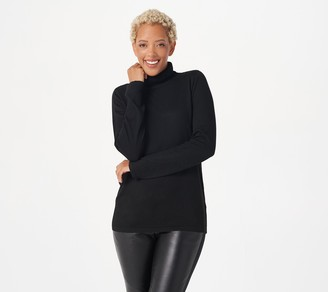 Joan Rivers Classics Collection Joan Rivers Cashmere Blend Long Sleeve Turtleneck Sweater