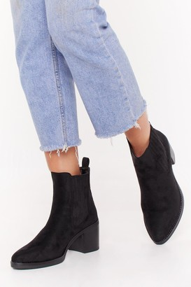 Nasty Gal Womens Take a Walk in Our Faux Suede Chelsea Boots - Black - 3