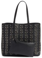 Chelsea28 Kaylee Embellished Faux Leather Tote - Black