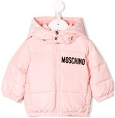 Moschino Kids flocked logo padded jacket