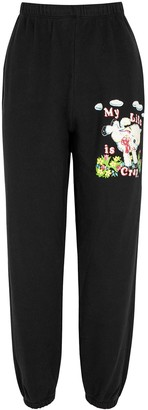 Marc Jacobs X Magda Archer Black Printed Cotton Sweatpants