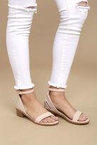 C Label Rochelle Blush Ankle Strap Sandals