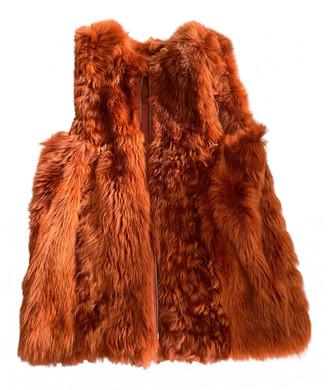 Fendi Orange Fur Jackets