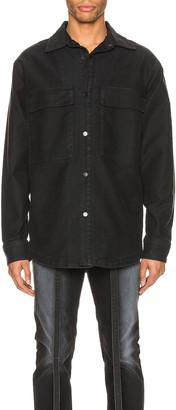 Fear Of God Canvas Shirt Jacket in Black | FWRD