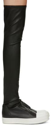 Rick Owens Black Stocking Sneaker Boots