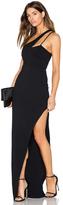 Donna Mizani X Front High Slit Gown
