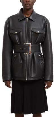 Opening Ceremony Belted Faux Leather Jacket