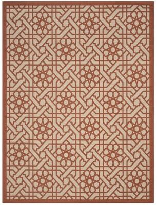 "Martha Stewart Triumph Cayenne Red/Beige Area Rug Rug Size: Rectangle 6'7"" x 9'6"""