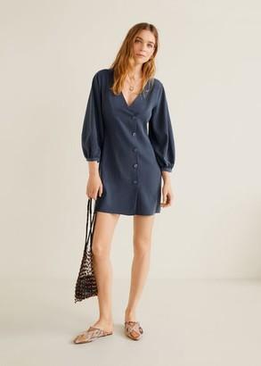 MANGO Buttons soft dress