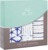 Aden Anais Aden + Anais Pack of 3 Indigo Silky Soft Swaddle