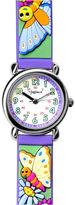 Dakota Fusion Kids' Purple Butterflies Strap Watch