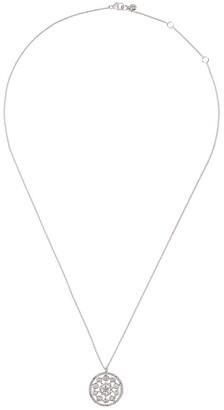 Astley Clarke 14kt white gold diamond medium Icon Nova pendant necklace