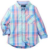 Andy & Evan Plaid Long Sleeve Dress Shirt (Toddler & Little Boys)