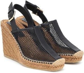 Jimmy Choo Dakori leather wedge espadrilles