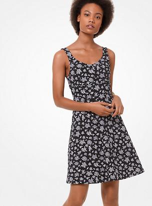 Michael Kors Wildflower-Print Flare Dress