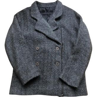 Madame à Paris Anthracite Wool Coat for Women