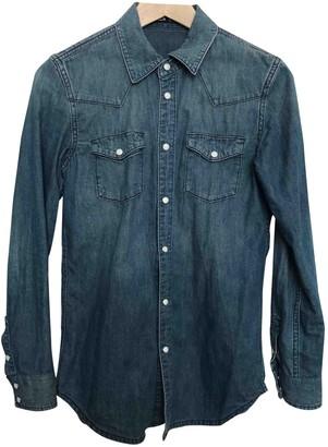 BLK DNM Blue Cotton Top for Women
