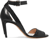 Maison Margiela Cutout snake-effect leather sandals