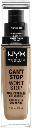 NYX Can't Stop Won't Stop Full Coverage Foundation - Classic Tan