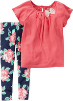 Carter's 2-pc. Top and Leggings Set - Baby Girls newborn-24m