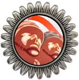 GiftJewelryShop Ancient Style Silver Plate soldiers head Sunflower Pins Brooch