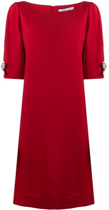 Blumarine Sleeve Ribbon Detail Dress