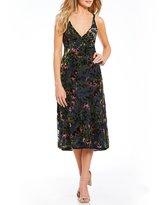 WAYF Sedona Bias Velvet Burnout Floral Midi Dress