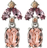 Oscar de la Renta Floral Navette Small Drop P Earrings