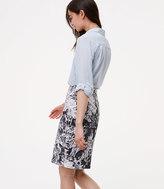 LOFT Curvy Botanic Pencil Skirt