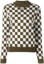 Courreges checked sweater - women - Merino - 3