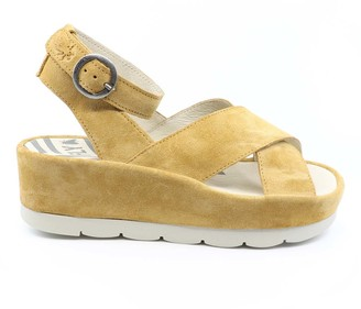 Fly London Women's Sandals 004 - Honey BiteFly Platform Wedge Suede Sandal - Women