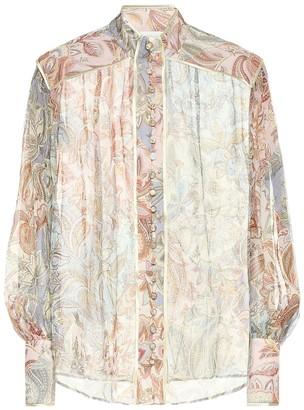 Zimmermann Lucky Bound printed silk blouse