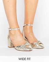 Asos SAMIRA Wide Fit Knotted Heeled Shoes