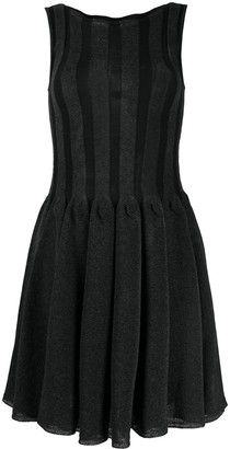 Emporio Armani Knitted Pleated Dress