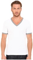 Dolce & Gabbana Stretch Ribbed Cotton V-Neck Men's Clothing