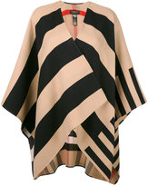 Burberry striped open cardigan - women - Merino - One Size