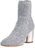 Proenza Schouler Space Dye Knit Sock Block-Heel Bootie