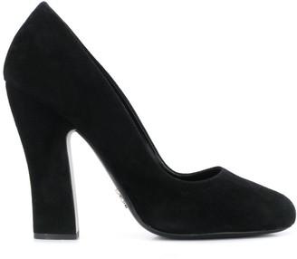 Prada chunky heel pumps