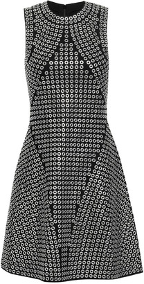 MICHAEL Michael Kors Eyelet-embellished Knitted Mini Dress